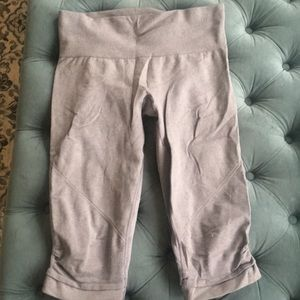 Grey lululemon awaken crop